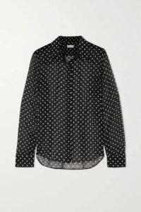 Dries Van Noten - Chow Polka-dot Silk-chiffon Blouse - Black