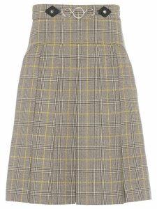 Miu Miu chain detail check skirt - Grey