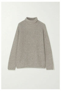 Lauren Manoogian - Alpaca And Organic Cotton-blend Turtleneck Sweater - Gray