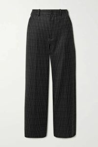 Maison Margiela - Cropped Wool-jacquard Wide-leg Pants - Black