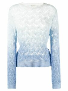 L'Autre Chose perforated fitted jumper - Blue