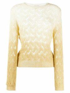 L'Autre Chose ombre oepn knit top - NEUTRALS