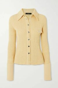 Ellery - Crepe-trimmed Ribbed-knit Shirt - Yellow