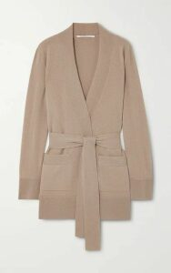 Agnona - Belted Cashmere Cardigan - Taupe