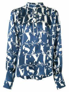 Alexis print blouse - Blue