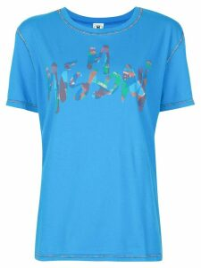 M Missoni brushstroke logo T-shirt - Blue
