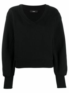 Diesel crossover V-neck sweatshirt - Black
