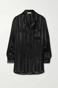 Anine Bing - Ash Satin-jacquard Shirt - Black