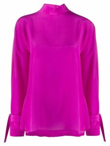 Jejia back buttoned roll neck blouse - PINK