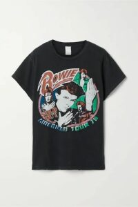 MadeWorn - David Bowie 1978 Distressed Printed Cotton-jersey T-shirt - Black