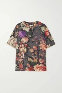 Dries Van Noten - Hoydu Floral-print Cotton-jersey T-shirt - Gray
