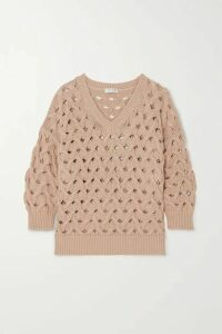 Brunello Cucinelli - Cable-knit Cotton-blend Sweater - Beige