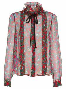 Miu Miu paisley print chiffon blouse - Red