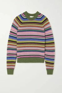 Stine Goya - Magdalena Striped Knitted Sweater - Green