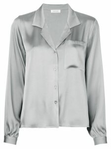 ANINE BING Lilah loose-fit silk shirt - SILVER