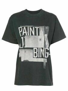 ANINE BING Lili slogan print T-shirt - Black