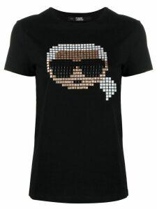 Karl Lagerfeld Karl pixel T-shirt - Black