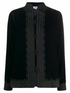 FOLKLOORE Moroccan silk jacket - Blue