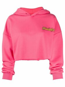 Misbhv cropped embroidered logo hoodie - PINK