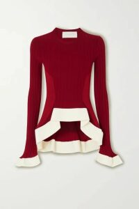 Esteban Cortázar - Asymmetric Ribbed-knit Sweater - Red