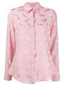 Stella McCartney jacquard-woven horse shirt - PINK