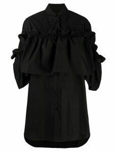 Mm6 Maison Margiela ruffled panel shirt - Black