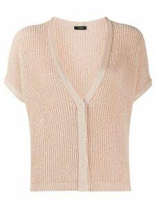 Peserico sparkling knit cardigan - NEUTRALS