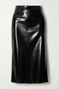McQ Alexander McQueen - Pu Midi Skirt - Black