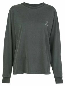 ANINE BING Willow logo embroidered sweatshirt - Grey