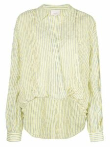 Cinq A Sept Lillian striped-print blouse - Yellow