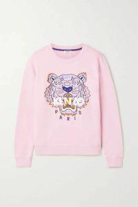 KENZO - Embroidered Cotton-jersey Sweatshirt - Pastel pink