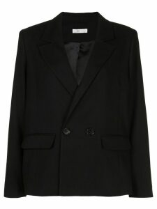 ANINE BING Becky single-breasted blazer - Black