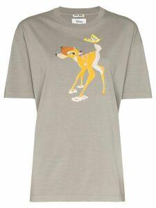 Miu Miu Bambi print T-shirt - Grey