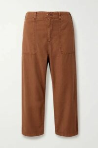 The Great - The Ranger Cotton-canvas Cargo Pants - Brown