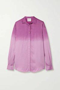 forte forte - Ombré Satin Shirt - Lavender