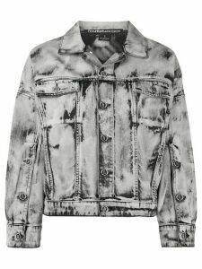 Pinko oversized fit distressed jacket - Grey