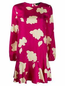 Theory foliage-print flared dress - PINK