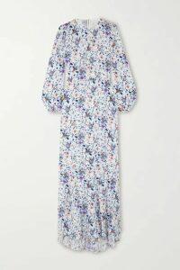 Fleur du Mal - Floral-print Silk-georgette Maxi Dress - White