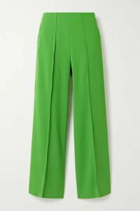 KENZO - Cropped Crepe Straight-leg Pants - Green
