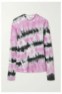 Proenza Schouler White Label - Ribbed Tie-dyed Stretch-cotton Top - Pink