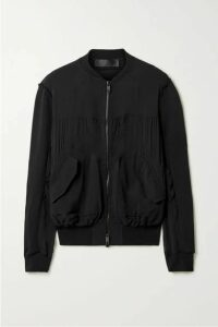 Haider Ackermann - Silk-blend Crepe De Chine And Cotton-terry Bomber Jacket - Black