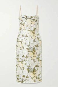 Brock Collection - Metallic Brocade Dress - Sky blue