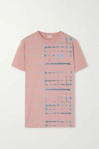 Loewe - Embroidered Tie-dyed Cotton-jersey T-shirt - Pink