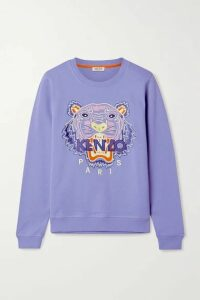 KENZO - Embroidered Cotton-jersey Sweatshirt - Blue