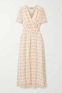 Paul & Joe - Wrap-effect Floral-print Chiffon Midi Dress - Cream