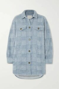 MUNTHE - Edmond Oversized Checked Brushed-flannel Jacket - Blue