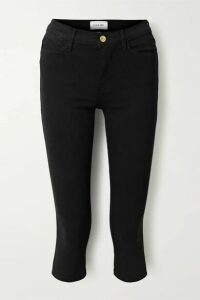 FRAME - Le High Pedal Pusher Cropped Skinny Jeans - Black