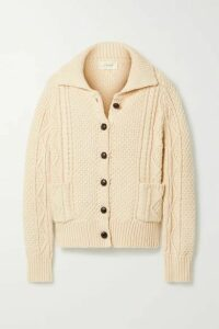 The Great - The Cable Cotton-blend Cardigan - Cream