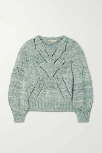 Vanessa Bruno - Norren Cropped Cotton-blend Sweater - Turquoise