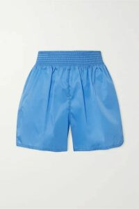 Prada - Appliquéd Nylon Shorts - Blue